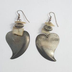 Vintage Heart Dangle Earrings
